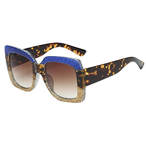 Gafas UV de Gafas Marca de Lentes Marco de sol Brillo E grande sol Mujer Polarizado Portección Sol unisex clásica Gafas cuadradas Espejo Sunglass Moda Clásico twvITxtq0
