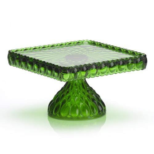 Green Square Cake Plate - 10