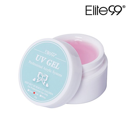 Elite99 Nail Art UV Builder Gel Nail Art pro Acrylic Builder Manicure Extension Tips 15g Pink