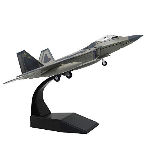 1/100 Scale F-22 Raptor Fighter Attack Plane Metal Fighter Military Model Fairchild Republic Diecast Plane Model for Commemorate Collection or Gift