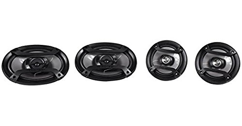 Soundstream VIR-7830B 1 DIN DVD/CD/MP3 Player Flip-Out Up Screen Bluetooth W Pioneer TS-165P + TS-695P Two Pairs 200W 6.5'' + 230W 6x9'' Car Audio 4 Ohm Component Speakers by Cache, Soundstream, Pioneer (Image #3)