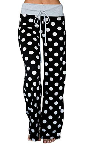 - Elsofer Women's Pajama Lounge Pants FloElsofer Women's Pajamas for Women Maternity Pregnancy Postpartum Pajamas Pajama Pants Bottoms Summer Comfy Casual Polka Dot Pjs Lounge (Tag 3XL (US 14), Black5)