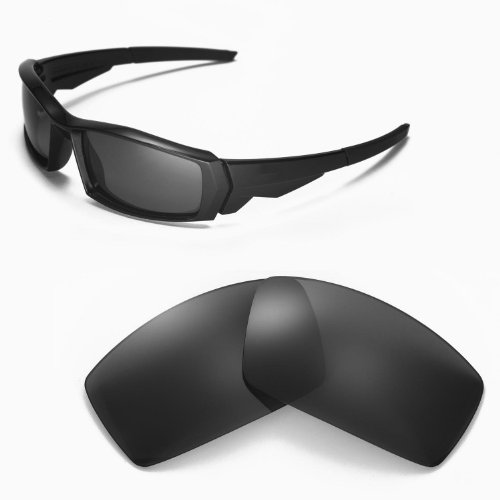 Walleva Replacement Lenses for Oakley Canteen(2013&before) Sunglasses - Multiple Options Available (Black - Polarized) ()