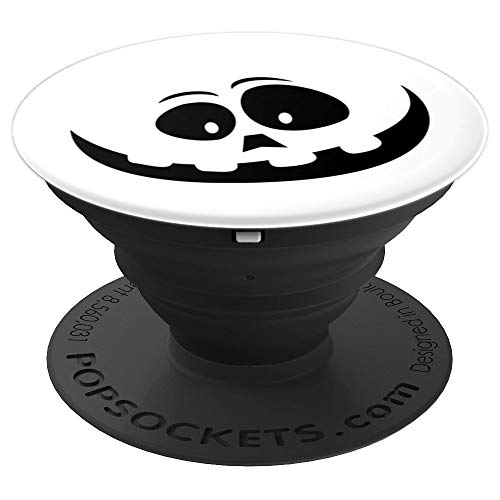 Ghost Pumpkin Smiley Face Halloween - PopSockets Grip and Stand for Phones and Tablets -