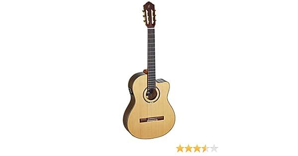 Ortega RCE159MN - Guitarra electroacústica (cedro, tamaño 4/4 ...
