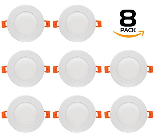 Cheap Westgate Lighting 9W 4″ Inch Ultra Thin Slim LED Recessed Light – Dimmable Retrofit Downlight Smooth Trim – Junction Box Included – No Housing Required – Ceiling Lights (8 Pack, 3000K Soft White)