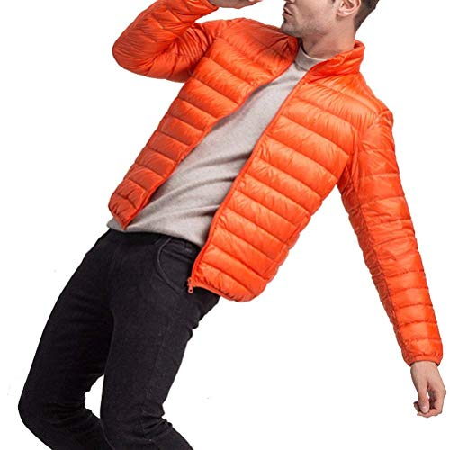 Orange fashion Sizes Collar Down Boys Down Lightweight Outerwear Warm Clothing HX Coat Coat Sleeve Mens Long Comfortable Winter Stand Jacket Outwear PRWn7Wqdg
