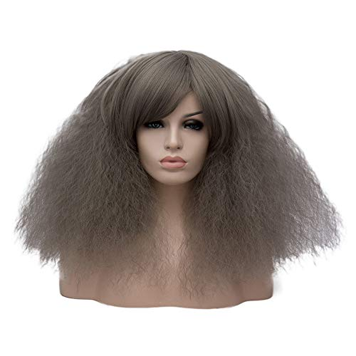 Women Funny Costume Wigs Short Curly Fluffy Cosplay