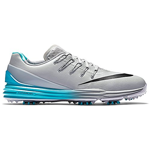 Nike Men's Lunar Control 4 Golf Shoe, Wolf Grey/Black Beta Blue/White, 9.5 M US