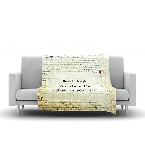 Kess InHouse Robin Dickinson Reach High Brick Wall Fleece Throw Blanket 80 by 60