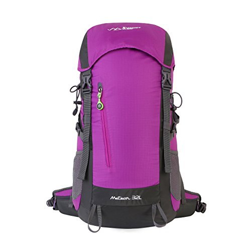 Summit Glory External Frame Hiking Backpacking Camping Travel Climbing Backpack, Rain Cover Included Lt.Purple by SUMMITGLORY