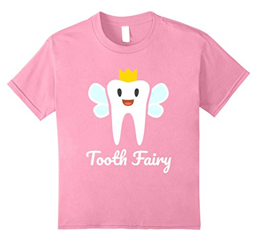 Tooth Fairy Costume Kids (Kids Tooth Fairy Halloween Costume T-Shirt 8 Pink)