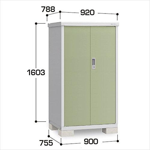 『配送は関東東海限定』イナバ物置 BJX/アイビーストッカー BJX-097D 全面棚タイプ 『屋外用ドア型収納庫 DIY向け 小型 物置』 LG(リーフグリーン) B00TZCWZZM