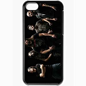 Personalized iPhone 5C Cell phone Case/Cover Skin Anthrax Band Hair T Shirts Tattoo Black
