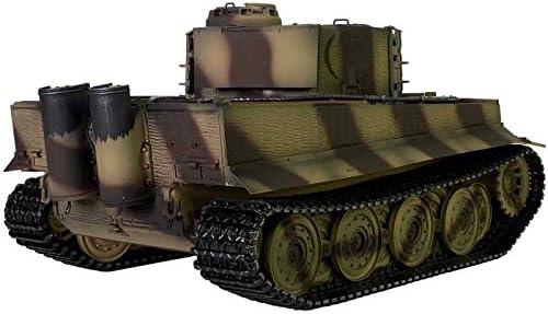 Full Metal Upgrade Taigen Hand Painted RC Tanks Tiger 360 Turret Dark Brown Version