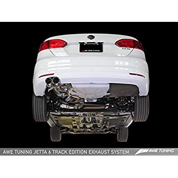 AWE Tuning 3020-22012 MK6 Jetta 2.5L Track Edition Exhaust (- Polished Silver