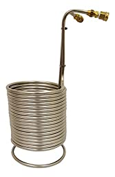 NY Brew Supply Stainless Wort Chiller with Garden Hose Fittings, 1/2\