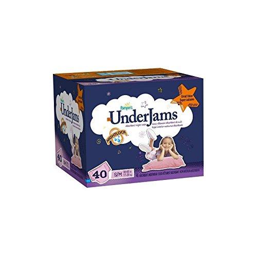 Pack 40 Sous-vêtements jetables de la marque Pampers Underjams pour Filles de taille S/M No Name