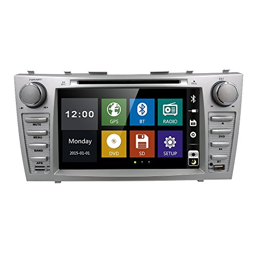 Radio DVD CD Player Car Stereo GPS Navigation for Toyota Camry 2007 2008 2009 2010 2011 Aurion 2006-2011 in Dash Radio Head Unit Receiver 8 inch Touch Screen with Bluetooth USB SD (Toyota 2011 Car Camry Stereo)