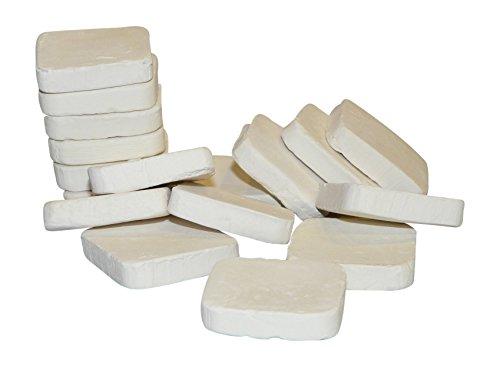 Ceramic Frag Plugs - Ceramic Reef Squares - White (50)