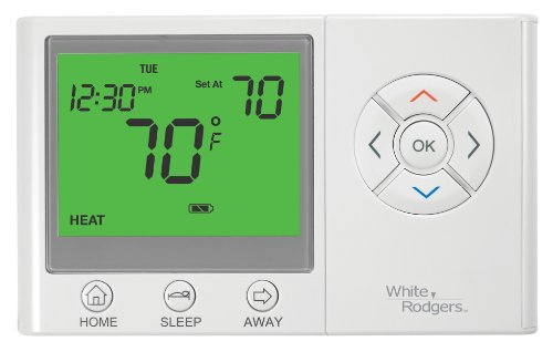 Emerson UP300 7-Day Programmable Thermostat With Home/Sleep/Away Presets - White Rodgers Programmable Thermostat