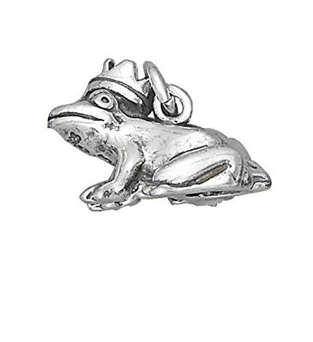 Sterling Silver 3D Frog Prince Animal (Sterling Silver 3d Frog)