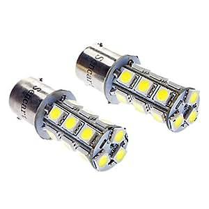 KLM 1156 4W 216LM 6000-6500K 18-LED bombilla de luz blanca para coche (12V DC)