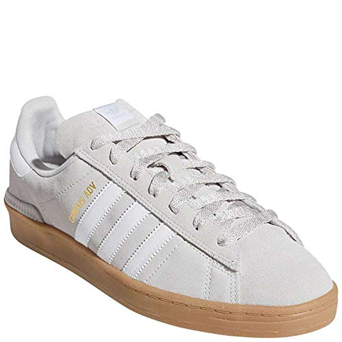 - adidas Men's Campus Adv Skate Shoes Grey One/Cloud White/Gold Metallic 9 D(M) US