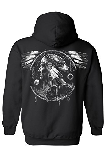 unisex-zip-up-hoodie-dreamcatcher-native-american-hawk-black-large