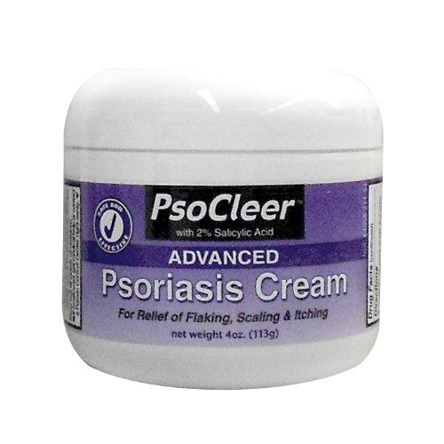 Psoriasis Cream. Psocleer formule avancée avec 2% d'acide salicylique pour les secours d'écaillage, desquamation, des démangeaisons et 4 oz de la peau sèche.