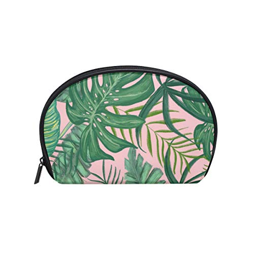 - Thomas Eugene Cute Shell Shape Tropical Greens Print Zipper Cosmetic Bag, 8x2.5x5.5 in