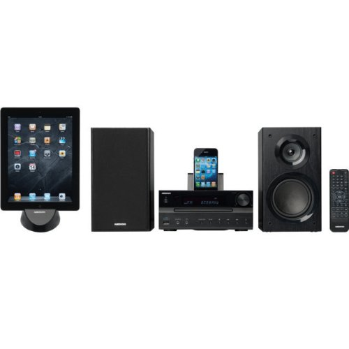 Medion MD 83615 Micro Anlage CD MP3 Radio iPhone / iPod Docking Station USB ° Ladefunktion ° MP3 CD ° RDS ° 2x AUX ° Weker ° X-Bass °