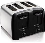 Hamilton Beach Cool Wall 4-Slice Toaster, Chrome - Walmart.com