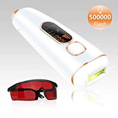 IPL Painless Permanent Hair Removal 500, 000 Flashes Professional Hair Remover Device Features:  Up to 95% hair reduction in 8-12 weeks - SILKlike IPL Hair Removal ensures permanent hair reduction in just 3 months treatment.  Safe IPL technol...