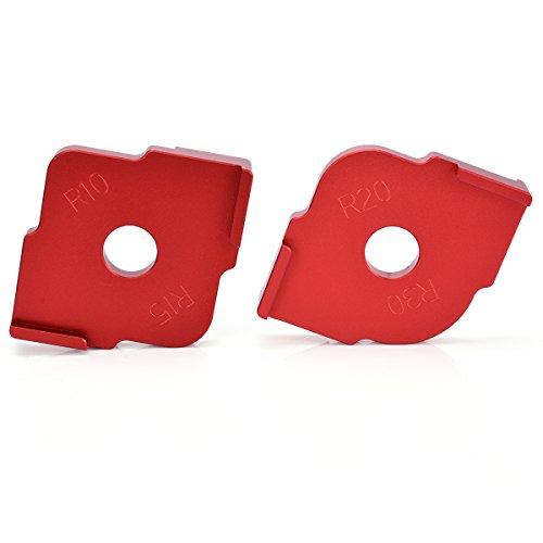 Radius Jig Router Templates Foam Cushion Aluminium Radius Corners R10 R15 & R20 R30 Set of 2