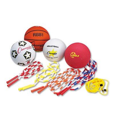 CSIUPGSET2 - Champion Sport Physical Education Kit w/Seven Balls by Champion