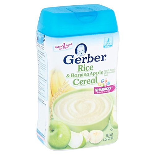 PACK OF 14 - Gerber Rice and Banana Apple Baby Cereal, 8 oz by _Gerber (Image #5)