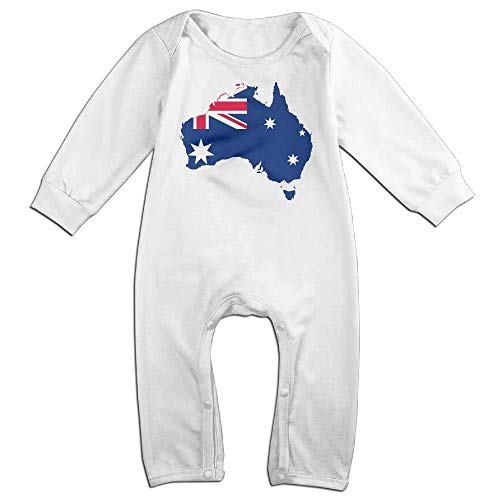 TYLER DEAN Baby Boy Long Sleeved Coveralls Australia Flag Map Toddler Jumpsuit -