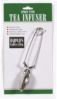 HIC Long Handle Loose Leaf Snap Tea Infuser Spoon, 18/8 Stainless Steel Mesh, 1.5-Inch ()