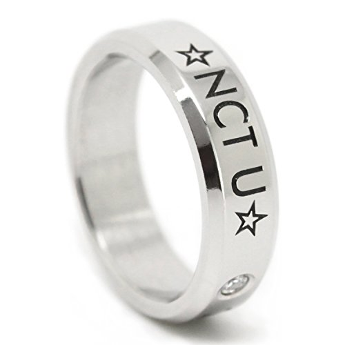 Fanstown NCT KPOP titanium birthday ring necklace with lomo cards