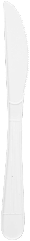 AmazonBasics Heavy-Weight Plastic Knives, White, 1,000-Count