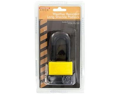 Bulk Buys OC571-4 Weather-Resistant Long Shackle 50 mm Padlock