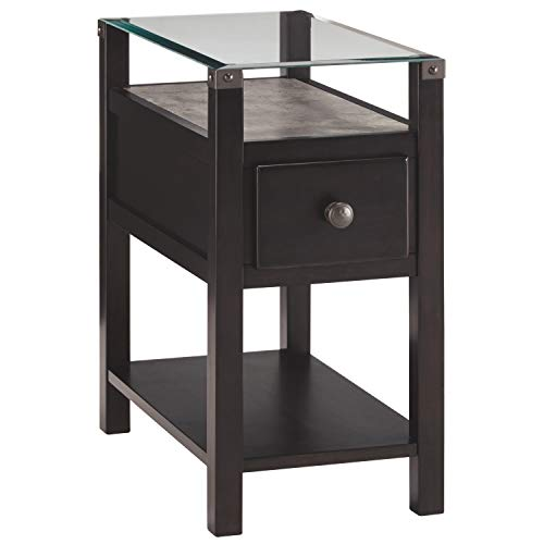 Signature Design by Ashley Diamenton Chair Side End Table Multi (Oak Glass Table)