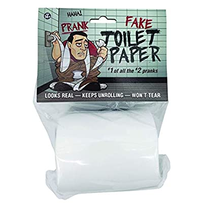 'No Tear' Funny Prank Toilet Paper - Impossible to Rip -Fake Novelty Stuff for Adults and Kids - Gag Non Rip Paper - Hilarious and Shocking Joke that will have your Friends and Family in Stitches: Toys & Games