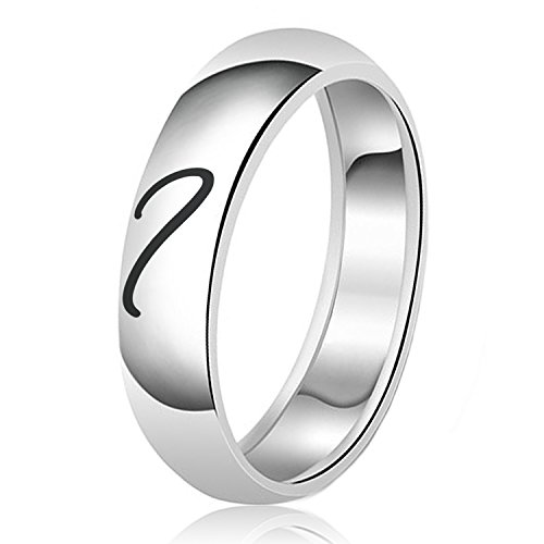 Classic Silver Heart - 7mm For Him Heart Engraved Classic Couple Set Sterling Silver Plain Wedding Band Ring, Size 7.5