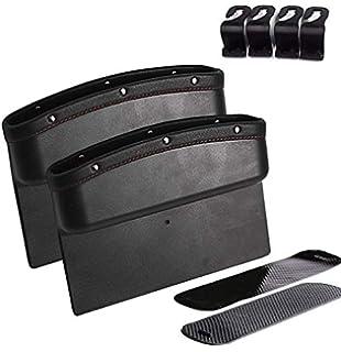 porte-gobelet bo/îte de rangement en cuir multifonction avec double chargement USB SUNMORN Organiseur de si/ège de voiture