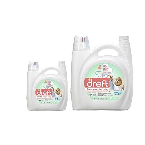 Dreft Stage 2: Active Baby Liquid Laundry Detergent , 150 oz