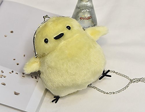 Shaped Bag Carton Lovely Bag Shoulder Bag Fur Faux Yellow Chick QZUnique Crossbody SUTOqO