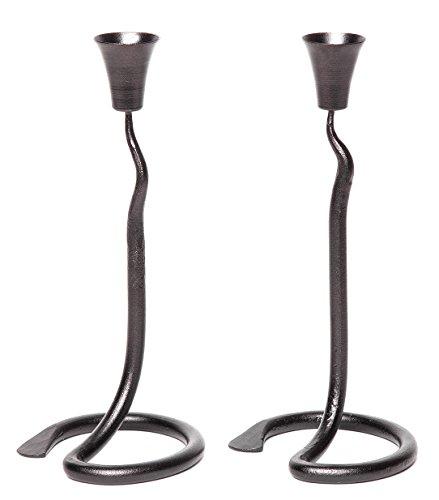 RTZEN Blacksmith Candle Holder | 2 Wrought Iron wedding candlestick | by Décor by RTZEN