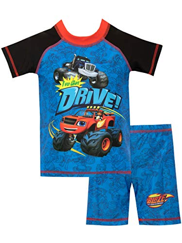 Blaze and the Monster Machines Boys' Blaze and Crusher Two Piece Swim Set Size 4 Blue